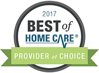 Best of Home Care 2017 Provider of Choice Award