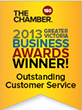 Winner - Outstanding Customer Service Award - Greater Victoria Business Awards 2013